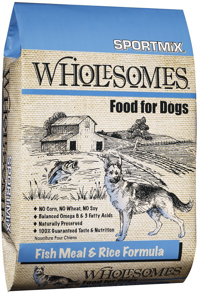 Sportmix Wholesomes With Fish Meal Rice Formula Adult Dry Dog Food 40 Lb Bag Chewy Com
