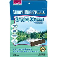 Natural Balance L.I.T. Dental Chews Sweet Potato & Chicken Meal Formula Dog Treats, Mini