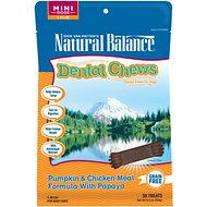 Natural Balance Dental Chews Pumpkin & Chicken Meal Formula with Papaya Dog Treats, Mini