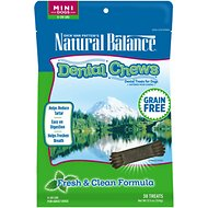 Natural Balance Dental Chews Fresh & Clean Formula Grain-Free Dog Treats, Mini