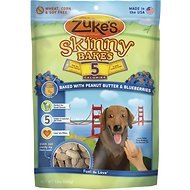 Zuke's Skinny Bakes Baked with Peanut Butter & Blueberries Dog Treats, 12-oz bag