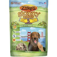 Zuke's Skinny Bakes Baked with Peanut Butter & Apples Dog Treats, 12-oz bag