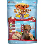 Zuke's Skinny Bakes Baked with Coconut & Pomegranate Dog Treats, 10-oz bag