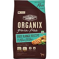 Castor & Pollux Organix Grain-Free Free Range Recipe with Raw Bites Dry Dog Food, 4-lb bag