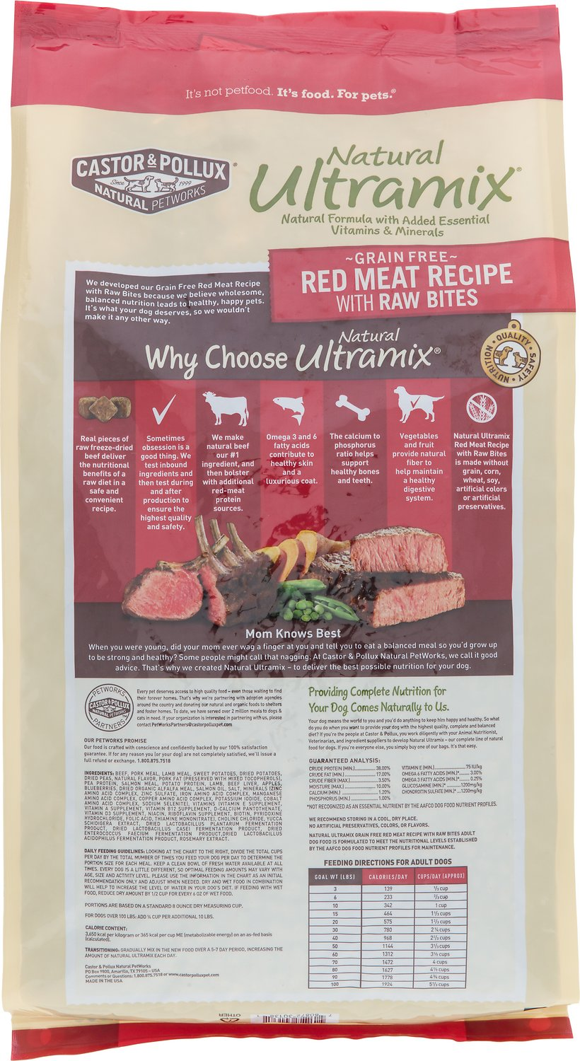 Natural Ultramix Grain Free Red Meat Recipe With Raw Bites