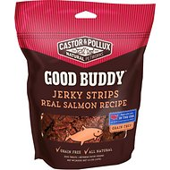 Castor & Pollux Good Buddy Jerky Strips Real Salmon Recipe Grain-Free Dog Treats, 4.5-oz bag