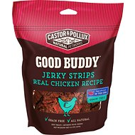Castor & Pollux Good Buddy Jerky Strips Real Chicken Recipe Grain-Free Dog Treats