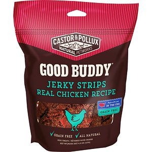 Castor & Pollux Good Buddy Jerky Strips Real Chicken Recipe Grain-Free Dog Treats, 4.5-oz bag
