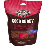 Castor & Pollux Good Buddy Prime Patties Real Beef Recipe Grain-Free Dog Treats, 4-oz bag