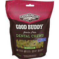 Castor & Pollux Good Buddy Dental Chews Mini Bones Grain-Free Dog Treats, 28 count
