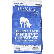 PetKind Tripe Dry Green Lamb Tripe Formula Grain-Free Dry Dog Food, 25-lb bag