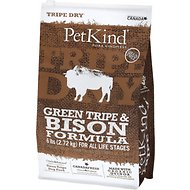 PetKind Tripe Dry Green Tripe & Bison Formula Grain-Free Dry Dog Food, 6-lb bag