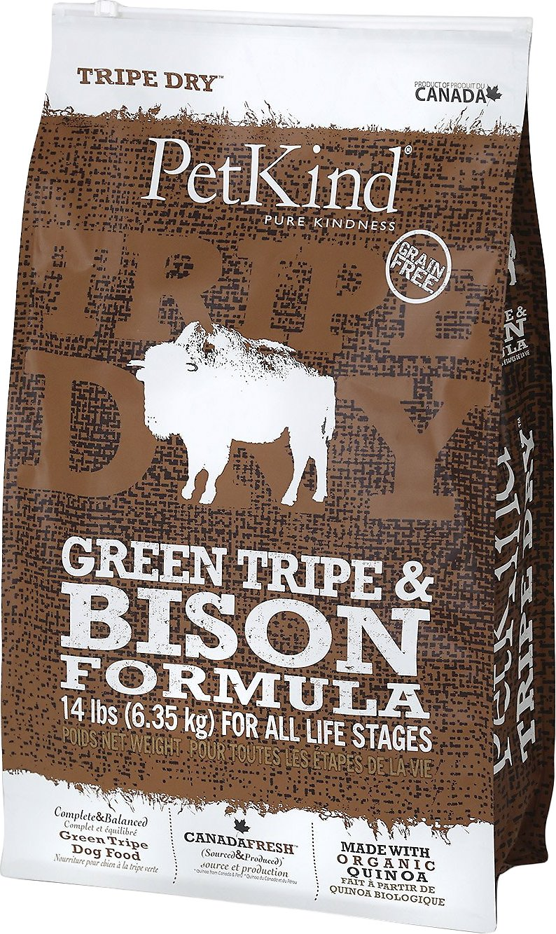 be8be99f1a9e50 PetKind Tripe Dry Green Tripe   Bison Formula Grain-Free Dry Dog Food