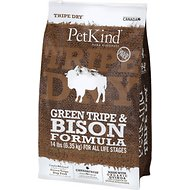 PetKind Tripe Dry Green Tripe & Bison Formula Grain-Free Dry Dog Food, 14-lb bag
