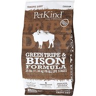 PetKind Tripe Dry Green Tripe & Bison Formula Dry Dog Food, 25-lb bag