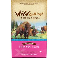 Wild Calling Xotic Essentials Bison Meal Recipe Grain-Free Dry Dog Food, 4.5-lb bag