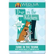 Weruva Dogs in the Kitchen Funk in the Trunk with Chicken Breast & Pumpkin Au Jus Dog Food Pouches, 2.8-oz, case of 12