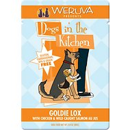 Weruva Dogs in the Kitchen Goldie Lox with Chicken & Wild Caught Salmon Au Jus Dog Food Pouches, 2.8-oz, case of 12