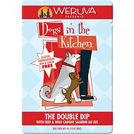 Weruva Dogs in the Kitchen The Double Dip with Beef & Wild Caught Salmon Au Jus Dog Food Pouches, 2.8-oz, case of 12