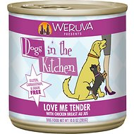 Weruva Dogs in the Kitchen Love Me Tender with Chicken Breast Au Jus Grain-Free Canned Dog Food, 10-oz can, case of 12