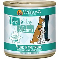 Weruva Dogs in the Kitchen Funk in the Trunk with Chicken Breast & Pumpkin Au Jus Canned Dog Food, 10-oz can, case of 12
