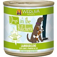 Weruva Dogs in the Kitchen Lamburgini with Lamb & Pumpkin Au Jus Canned Dog Food, 10-oz can, case of 12