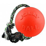Jolly Pets Romp-n-Roll Dog Toy, Orange, 8-inch