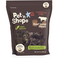 Pet 'n Shape Beef Lung Slices Dog Treats, 9-oz bag, 1 pack