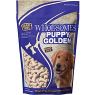 SPORTMiX Wholesomes Grain-Free Puppy Golden Biscuit Dog Treats, 2-lb bag