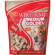 SPORTMiX Wholesomes Grain-Free Medium Golden Biscuit Dog Treats, 4-lb bag