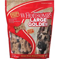 SPORTMiX Wholesomes Grain-Free Large Golden Biscuit Dog Treats, 4-lb bag