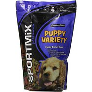SPORTMiX Puppy Variety Biscuit Dog Treats, 2-lb bag