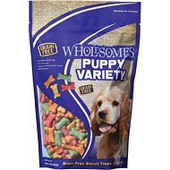 SPORTMiX Wholesomes Puppy Variety Grain-Free Biscuit Dog Treats, 2-lb bag