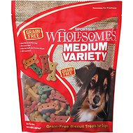 SPORTMiX Wholesomes Grain-Free Medium Variety Biscuit Dog Treats, 4-lb bag