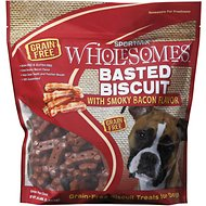 SPORTMiX Wholesomes Grain-Free Premium Basted Biscuit with Hickory Smoked Flavor Dog Treats, 3-lb bag