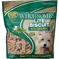 SPORTMiX Wholesomes Grain-Free Premium Lite Biscuit with Lamb Meal and Rice Dog Treats, 3-lb bag