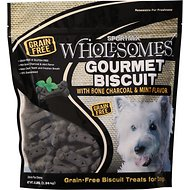 SPORTMiX Wholesomes Grain-Free Premium Gourmet Biscuit with Natural Bone Charcoal & Mint Flavor Dog Treats, 3-lb bag