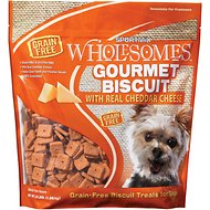 SPORTMiX Wholesomes Grain-Free Premium Gourmet Biscuit with Real Cheddar Cheese Dog Treats, 3-lb bag