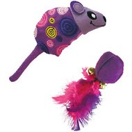 KONG Tropics Mouse and Ball Cat Toy, Color Varies