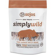 Sojos Simply Wild Boar Freeze-Dried Dog Treats, 2.5-oz bag
