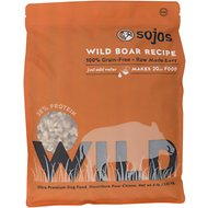 Sojos Wild Boar Recipe Grain-Free Freeze-Dried Dog Food, 4-lb bag