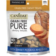 Canidae Grain-Free PURE Sweet Potato & Duck Chewy Dog Treats, 6-oz bag