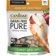 Canidae Grain-Free PURE Turkey & Apple Chewy Dog Treats, 6-oz bag