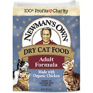 Newman's Own Adult Formula Chicken & Brown Rice  Dry Cat Food, 3-lb bag