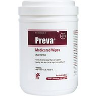 Preva Antimicrobial Wipes to Support Healthy Skin & Coat for Dogs & Cats, 120-count