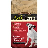 AvoDerm Natural Oven-Baked Original Formula with Beef Meal All Life Stages Dry Dog Food, 4.4-lb bag