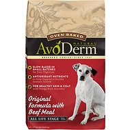 AvoDerm Natural Oven-Baked Original Formula with Beef Meal All Life Stages Dry Dog Food, 24-lb bag