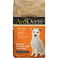 AvoDerm Natural Oven-Baked Original Formula with Beef Meal Small Bites Dry Dog Food, 4.4-lb bag