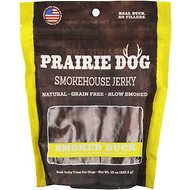 Prairie Dog Smokehouse Jerky Smoked Duck Dog Treats, 15-oz bag