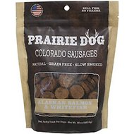 Prairie Dog Colorado Sausages Alaskan Salmon & Whitefish Dog Treats, 16-oz bag